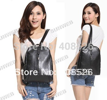 2012 new arrival women retro PU leather Backpack shoulder bag Handbag 2 Colors free shipping 7084