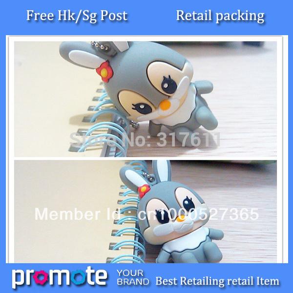 free shipping 10pcs/lot high speed little rabbit usb sticks 1GB 2GB 4GB 8GB 16GB usb 2.0 flash drive pendrive(China (Mainland))