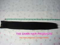 """4 Pieces/Lot Length 18"""" Color 1# Mixed Material Straight New Yaki Hair Weave(50% Human Hair&50% Heat Resistant Fiber)"""