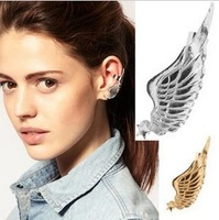 2 Min order $10(mix order) C039,New punk style  ear cuff metal star wing earring ear clip,fashion jewelry wholesale