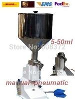 semi-automatic single pump pneumatic liquid filler with pedal machine 5-50ml