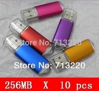 Bulk Sale 10pcs/Lot X 256MB USB Flash Drive Memory Sticks 128mb/512mb Drive 2.0 Memory Flash Thumb Stick  Free Shipping