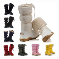 High quality!2012 women's classic Tall feather snow boots,fashion winter warm shoes,pink purpul yellow red ,with gift 5815 A427