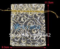 100pcs 9.3x11.5cm Sheer Organza Jewelry Gift Pouch Bags 4908