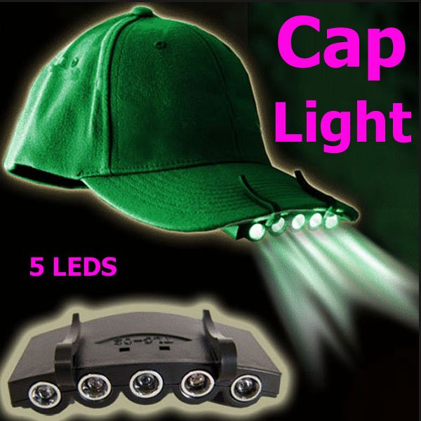 Clip-On 5 LED Fishing Camping Head