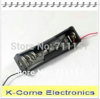 50x Free Shipping 18650 Cell 3.7V Plastic Battery Holder Box Case With Lead 1 X 18650 Battery Storage Box