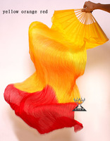 DJ1022 Belly Dance Accessory Belly Dance Props Long 100% Silk Fans For Performance,17Colors Choose,180cm