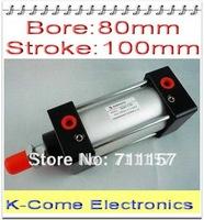 "80mm Bore 100mm Stroke G3/8"" SC80-100 Standard Pneumatic Cylinder SC 80*100 Adjustable Air Cylinders"