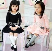 5pcs/lot cotton Baby girl dress Spring Autumn Girl's dresses BOW Cake dress, children Autumn clothes 630181J