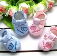 Hot sale  fashion pair Baby first walkers Baby Shoes girls boy Soft Sole with sweet heart Toddlers shoes  baby footwear