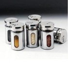 FREE SHIPPING Kitchen condiment container,glass liner of stainless steel skin durable cruet#1045(China (Mainland))