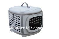 Foldable Transport Pet Carrier (Plain color fabric)-light grey