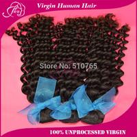 Queen Hair Products Brazilian virgin Hair Deep Curly Natural Color Mixed Length 3Pcs/Lot Virgin Brazilian Wavy Hair
