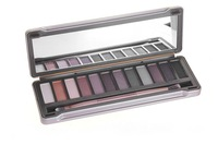 new makeup  12 color eyeshadow palette with a brush  (1 pcs/lot)  FREE SHIPPING!