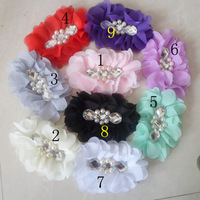 2013 New Style,acrylic Flower With Pearl,Infant Baby Hair Accessories Fashion diamond flower personalized flower head 30pcs/lot