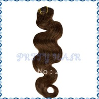 "20"" 7pcs 16clips, Clip-in Brazilian Remy Hair Extensions, Body Wave,Color#33,7399"