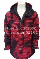 Free shipping 2012 mens RIDE snowboarding jacket snow suit skiing jacket men's waterproof ski suit skiwear anorak red camouflage
