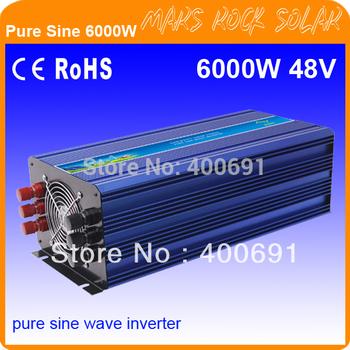 6000W 48VDC 100/110/120VAC or 220/230/240VAC Pure Sine Wave PV Inverter Off Grid Solar& Wind Power Inverter PV Inverter