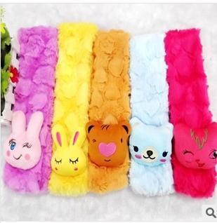 Kids Bandelet New Arrival Lint Soft Scarf Cartoon Colorful Kids Muffler Good Quality 70cm 1pcs/lot(China (Mainland))