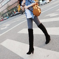 boots woman Hot sale New arrival fashion ladies sexy Knee high boots ship wholesale   Four Colours Plus size
