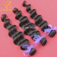 "Malaysian virgin hair extension loose wave 100% virgin human hair remy hair color 1B 10""-30"" 3.5oz/pc queen hair products"