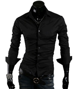Free Shipping 2014 New Mens Shirts Casual Slim Fit Stylish Hot Dress Shirts ,10 colors,Size:M-XXL, MCL004