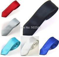 Mens 5 cm Skinny Necktie Neck Ties 2 Inch Black Jacquard Fabric Slim Narrow Tie Men Fashion Accessories Free Shipping 3 PCS