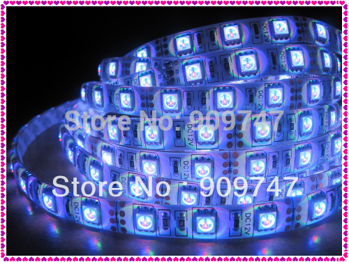New 5050 SMD RGB 5M 300 led strip light waterproof +free china post+ 1 year warranty(China (Mainland))