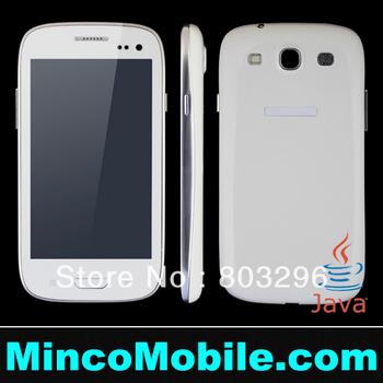 Unlocked 4.0 inch Screen I9300 9300 S3 Dual SIM Card JAVA Mobile Phone Optional Polish / Russian Language