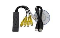 Holiday Sale! Cheap 5Pcs/Lot USB 2.0 Easycap 4 Channel DVR CCTV Camera Audio Video Capture Adapter Recorder  1064