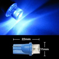 Free shipping DC12v T10 Led 168 194 W5W Side Light Edge Bulb Blue Red available