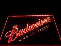 LA002- Budweiser Beer Bar Pub Club NEW Neon Light Sign   hang sign home decor shop crafts led sign