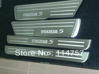 free shipping  MAZDA5 2012 Stainless Steel Scuff Plate/Door Sill plate