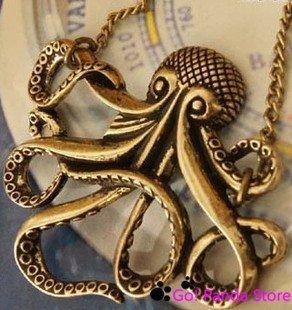 Min.order is $10 (mix order)Retro Octopus long necklaces fashion jewelry Free shipping 121053K