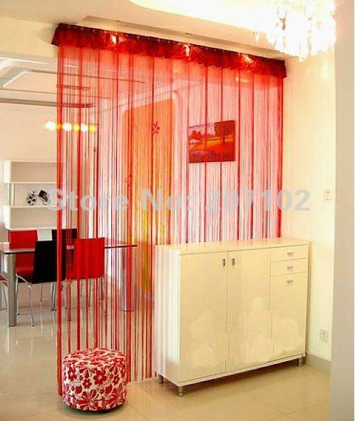 FREE SHIPPING 300cm*300cm window/ Door decor curtain /100% polyester string curtain 20 colour available(China (Mainland))