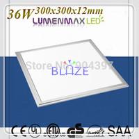 Wholesale 5pcs/Lot Flat LED panel light 36W Fittings 300x300 LumenMax 5630 Led Lamp lightings
