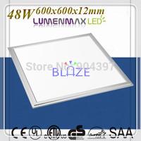 48W Flat LED Ceiling Panel Light 600x600 110pcs High Brightness LumenMax SMD 5630 Bright 90LM/W
