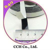 """2/5"""" 10mm Black Adhesive Hook and loop Velcro Tape"""