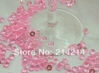 Free shipping Acrylic Diamond Table Scatter Crystal Confetti Gems 4.5MM 1/3carat baby pink for Wedding party decoration 10000pcs