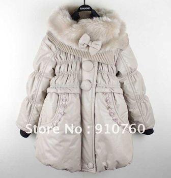 2012 Winter Wholeslae 3pcs/lot Sweet lace girls coat,children down coat, kid's coat, baby girl outerwear,free shipping