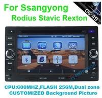 HD Car DVD GPS Navi Radio USB SD Player For Ssangyong Rodius Stavic Rexton IGO GARMIN Navitel MAP+free shipping