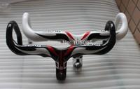 Specials! Bike Full Carbon Fiber Road Bicycle Integrated Handlebar With Stem Black,White 3K
