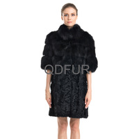 QD22111 2013 New Women Fashion Genuine Fox Fur Coat &lamb fur Ladies' Winter Long Outwear /Wholesale/Retail/Free shipping/OEM