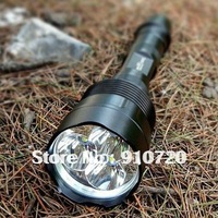 1PC Trustfire 3T6 Flashlight 3* CREE XM-L XML T6 LED 5 Mode 3800 Lumens Flashlight Extendable Ultra Bright Torch + Extended Tube