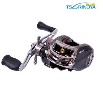 Trulinoya Right  Hand DW1000 Baitcasting Fishing Reel  Black 10+1BB  Low Profile Baitcaster