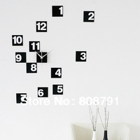 Home decoration!large digital wall clock Modern design,large decorative wall clocks.the wall hours are wall,Free shipping!F26