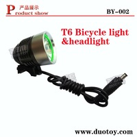 free mail 10pieces/lot BY-002 T6 power 4.2V led bicycle light 1200 lumens last more 3 hours headlamp headlight+simple packaging