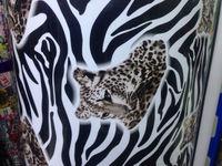 1.52*60CM HIGH QUALITY air channel  material MIRROR FILM! CHROME car vinyl wrapping film 2D Sticker Leopard grain