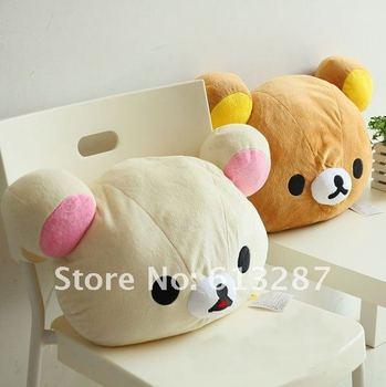 Free Shipping Kawaii Plush Rilakkuma Hold Pillow/Back Cushion,Seat Cushion,Novelty Throw Pillow,Xmas Gift Retail