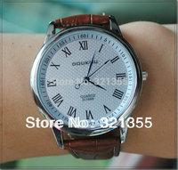 Relogio Feminino Original Brand Doukou 2014 new Dress Clock fashion Watch for Unisex women men Quartz Watches Free Shipping!